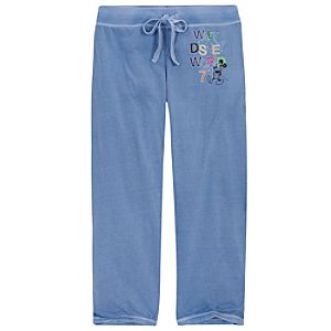 Chromatic Blue Walt Disney World Mickey Mouse Sweatpants for Women