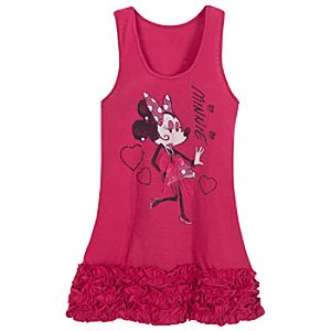 Ooh La La Ruffled Minnie Mouse Tank Top for Women