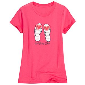 Flip Flop Bloom and Beach Walt Disney World Tee for Women