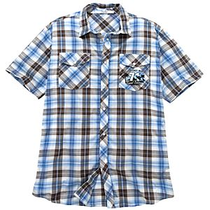 Collared Surf Tours Mickey Mouse Shirt for Men