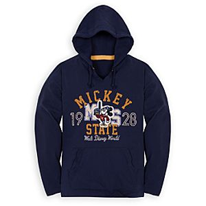 Hooded Fleece Walt Disney World Mascot Mickey Mouse Tee for Adults
