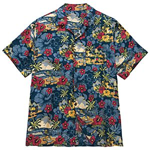 Surf and Sand Mickey Mouse and Friends Hawaiian Shirt for Men -- Blue