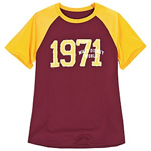 Collegiate Raglan Walt Disney World Tee for Adults -- Burgundy