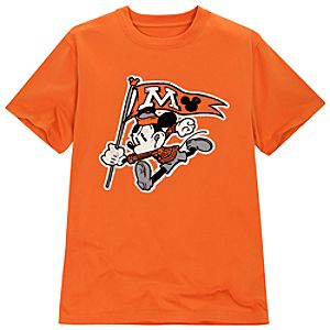 Orange Mascot Mickey Mouse Tee for Adults