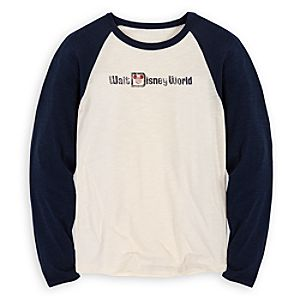 Vintage-Style Raglan Walt Disney World Tee for Adults