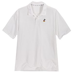 Classic White Mickey Mouse Polo for Men