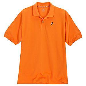 Classic Orange Mickey Mouse Polo for Men