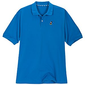 Classic Blue Mickey Mouse Polo for Men