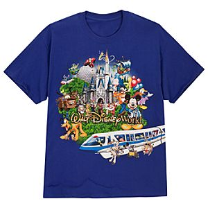 Storybook Walt Disney World Tee for Adults -- Blue