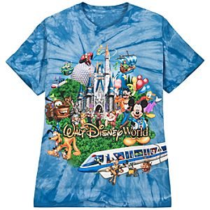 Tie-Dye Storybook Walt Disney World Tee for Adults