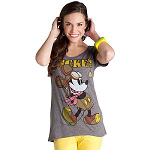 Aviator Mickey Mouse Tee for Women
