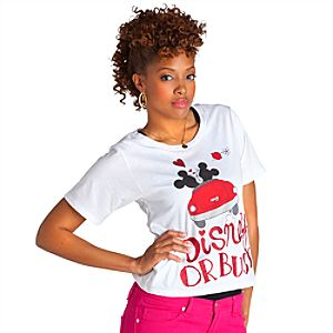 Disney or Bust Minnie Mouse and Mickey Mouse Tee for Women
