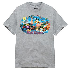 Disney Storybook Attractions Magic Kingdom Tee for Adults