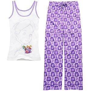 Disney Storybook Attractions Alice in Wonderland Pajama Set for Women -- 2-Pc.