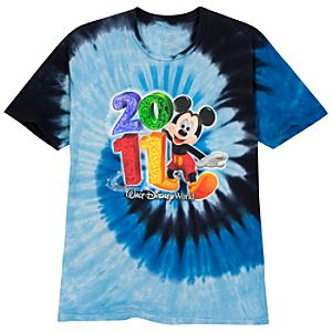 Tie Dye 2011 Walt Disney World Tee for Adults