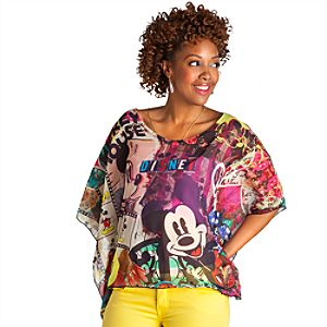 Kingdom Couture Chiffon Mickey Mouse Tee for Women