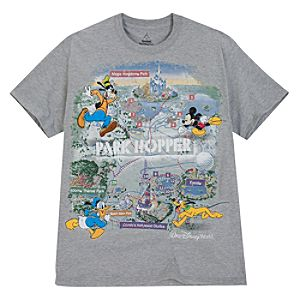 Mickey and Friends Walt Disney World Park Hopper Tee for Adults