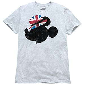 Union Jack Hat Mickey Mouse Tee for Adults