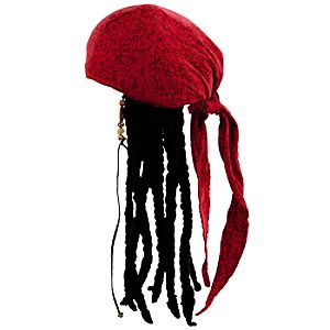 Jack Sparrow Head Wrap with Dreads for Adults