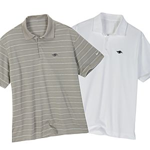 Disney Cruise Line Polo Shirt for Adults by Nike -- Striped Grey
