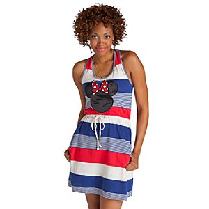 Striped Nautical Minnie Mouse Dress for Women