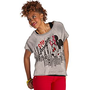 City Adventure Minnie Mouse Tee for Women
