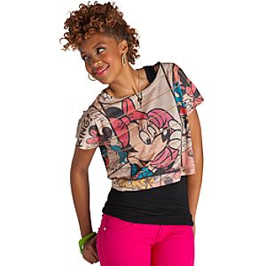 Cropped Minnie Mouse Tee for Women