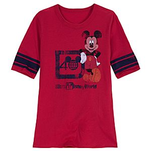 40th Anniversary Walt Disney World Mickey Mouse Tee for Women