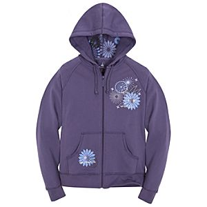 Outline Zip Fleece Tinker Bell Hoodie for Women