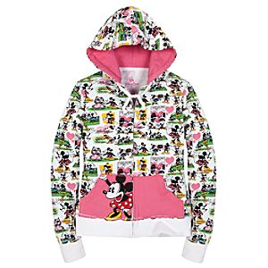 Comic Strip Minnie Mouse Hoodie for Girls