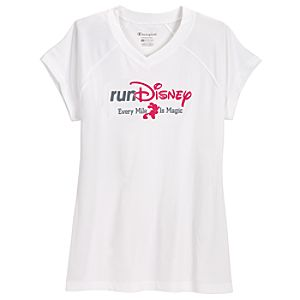 V-Neck Basic Performance RunDisney 2012 Mickey Mouse Tee for Women by Champion®