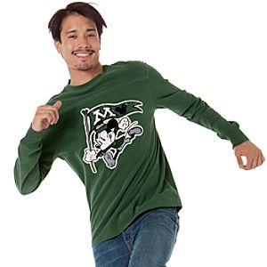 Long Sleeve Mascot Mickey Mouse Tee for Men