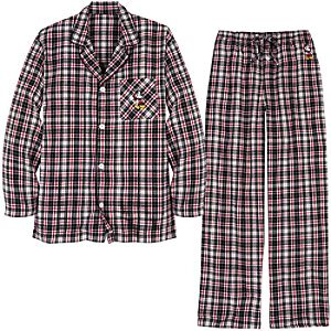 Flannel Santa Mickey Mouse Pajamas for Men -- 2-Pc.