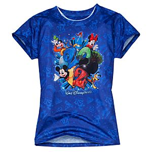 2012 Sublimated Walt Disney World Resort Tee for Adults -- Blue