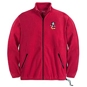 Zip Fleece Santa Mickey Mouse Jacket for Men