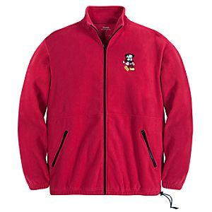 Zip Fleece Santa Mickey Mouse Jacket for Men