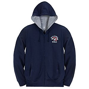 Zip Fleece Walt Disney World Mickey Mouse Hoodie for Adults