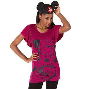 Ooh La La Pleated Minnie Mouse Tunic for Women