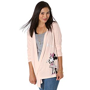 Ooh La La Hooded Minnie Mouse Cardigan Wrap for Women