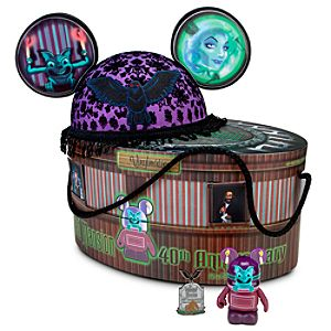 Limited Edition Haunted Mansion Ear Hat with Vinylmation Figure and Pin Set