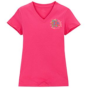 V-Neck Storybook Walt Disney World Tee for Women -- Pink