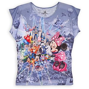 Sublimated Storybook Walt Disney World Tee for Women