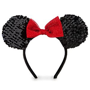 Sequined Minnie Mouse Ear Headband