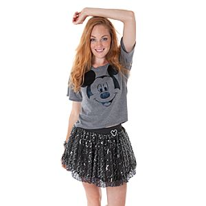 Sequined Mickey Mouse Skirt for Women