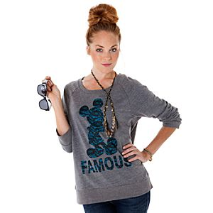 Raglan Famous Mickey Mouse Tee for Women