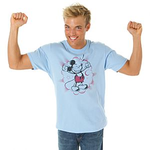 Smiling Mickey Mouse Tee for Men