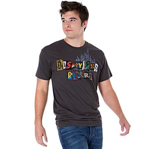 Spell It Out Disneyland Resort Tee for Men -- Gray