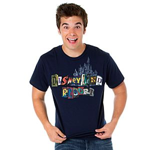 Spell It Out Disneyland Resort Tee for Men -- Navy