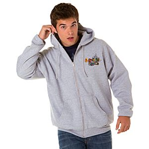 Spell It Out Disneyland Resort Hoodie for Men -- Gray