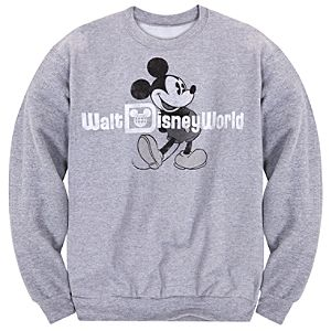 Long Sleeve Walt Disney World Mickey Mouse Fleece Sweatshirt for Adults
